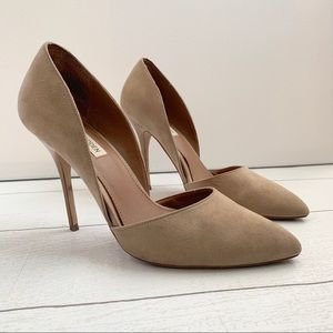 Steve Madden Galaaxy D'Orsay Nude Tan Pumps
